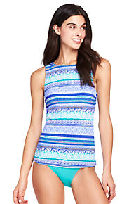 Cheap Sale Outlet Locations Womens Textured High-neck Tankini Top - 14-16 - BLUE Lands End Recommend Sale Online Outlet Collections Sale Clearance NYOsCtO4jl