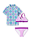 Little Girls' Three-piece Rash Vest Swim Set