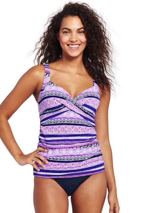 Women's Underwire Wrap Tankini Top