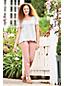 Le T-Shirt Ample Rayé en Coton Modal Stretch, Femme Stature Petite