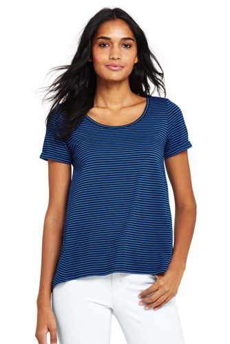 Women's Petite Modal Jersey Striped Top