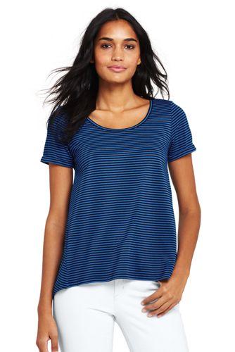 Women's Petite Modal Jersey Striped Top