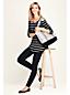 La Tunique Épaules Nues Rayée en Coton Modal Stretch, Femme Stature Standard