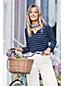Gestreiftes Shirt mit Henley-Ausschnitt für Damen in Plusgröße