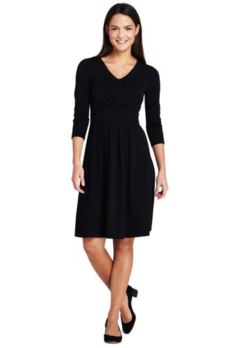 Women's Ruched Bodice Jersey Dress