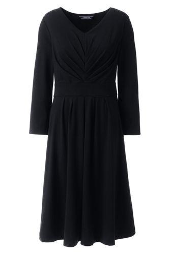 Robe Jersey à Corsage Froncé et Surplis Femme