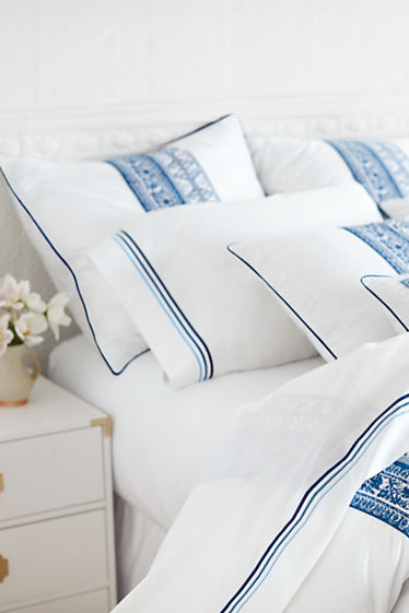 Percale Embroidered Sheets