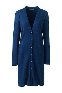 Women's Cotton Blend Slub Long Cardigan