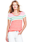 Women's Striped Cut Out T-shirt