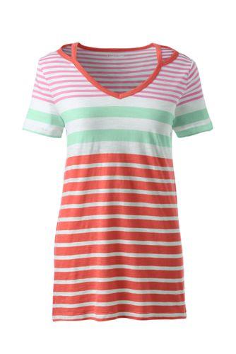 Lands' End - Plus Striped Cut Out T-shirt - 2