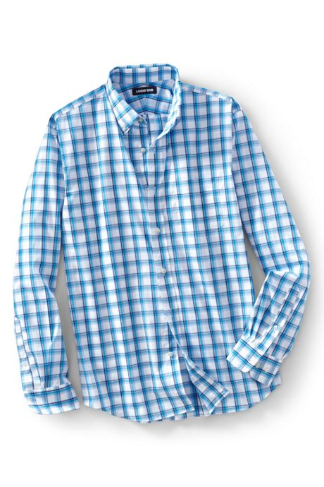 Men'sTall Traditional Fit Comfort-First Shirt with Coolmax