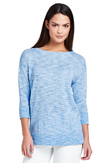 Women's Cotton Blend Boatneck Top