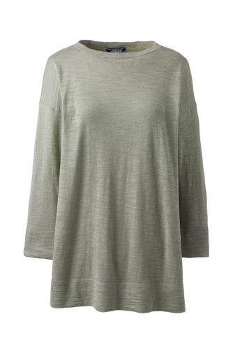 Le Pull Long Ample Manches 3/4, Femme Stature Standard