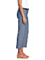 Le Chino Court en Chambray Taille Mi-Haute, Femme Stature Standard