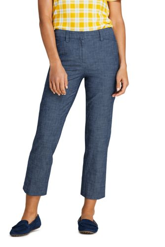 Chambray-Crops in 7/8-Länge für Damen