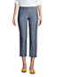Women's Mid Rise Cropped Trousers, Chambray