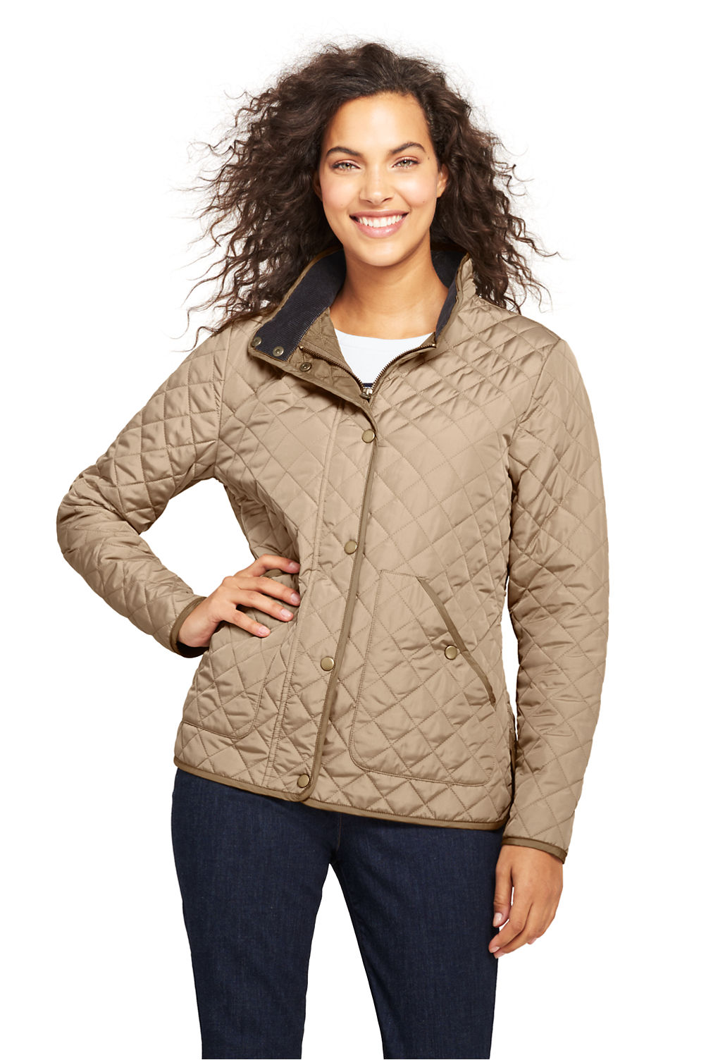 Womens Quilted Barn Insulated Jacket From Lands End