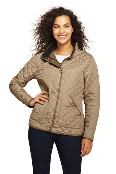 Women's Petite Quilted Barn Insulated Jacket