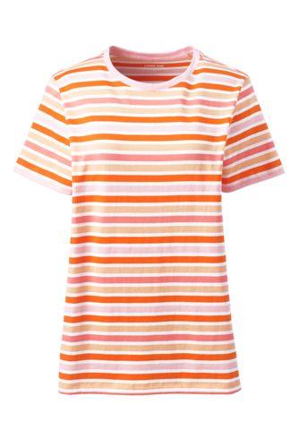 Supima Shirt mit rundem Ausschnitt Gestreift für Damen