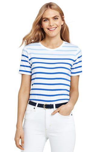 0d24932e4dc506 Supima Shirt mit rundem Ausschnitt Gestreift für Damen