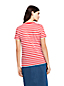 Le T-Shirt Rayé en Coton Supima et Manches Courtes, Femme Stature Standard