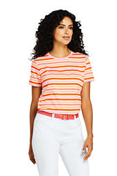 c8c8b701c Women's Relaxed Fit Supima Cotton Crewneck Short Sleeve T-shirt - Stripe