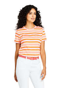 Women's Relaxed Supima Cotton Short Sleeve Crewneck T-Shirt Stripe