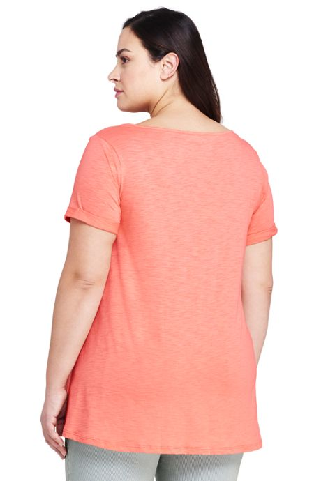 Women's Plus Size Tassle Short Sleeve V-Neck T-Shirt