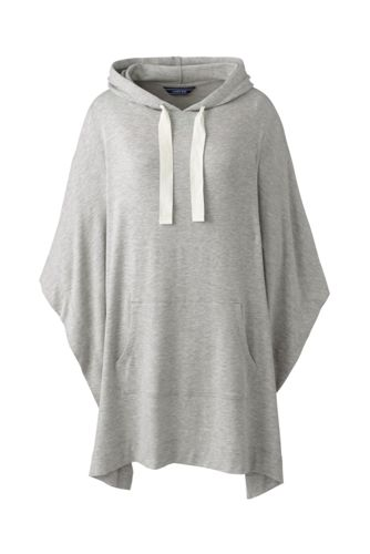 Women's French Terry Hooded Poncho