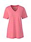 Supima Shirt mit V-Ausschnitt Gestreift für Damen