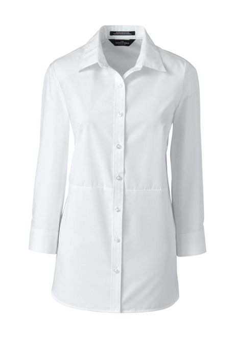 Women's 3/4 Sleeve Sophie Pieced Broadcloth Shirt
