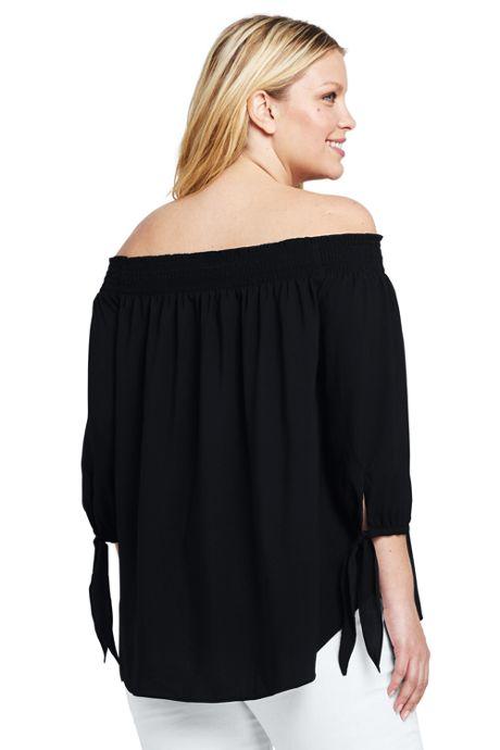 Women's Plus Size Off The Shoulder Blouse