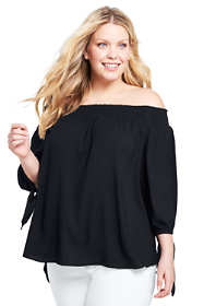 Women's Plus Size Off The Shoulder Blouse
