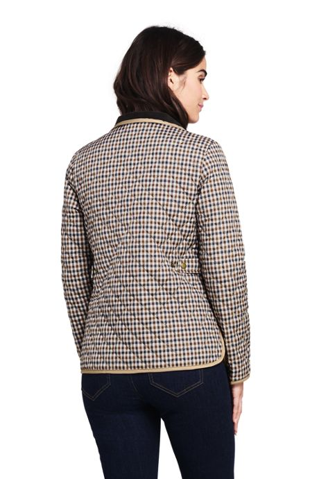 Women's Petite Print Quilted Barn Insulated Jacket