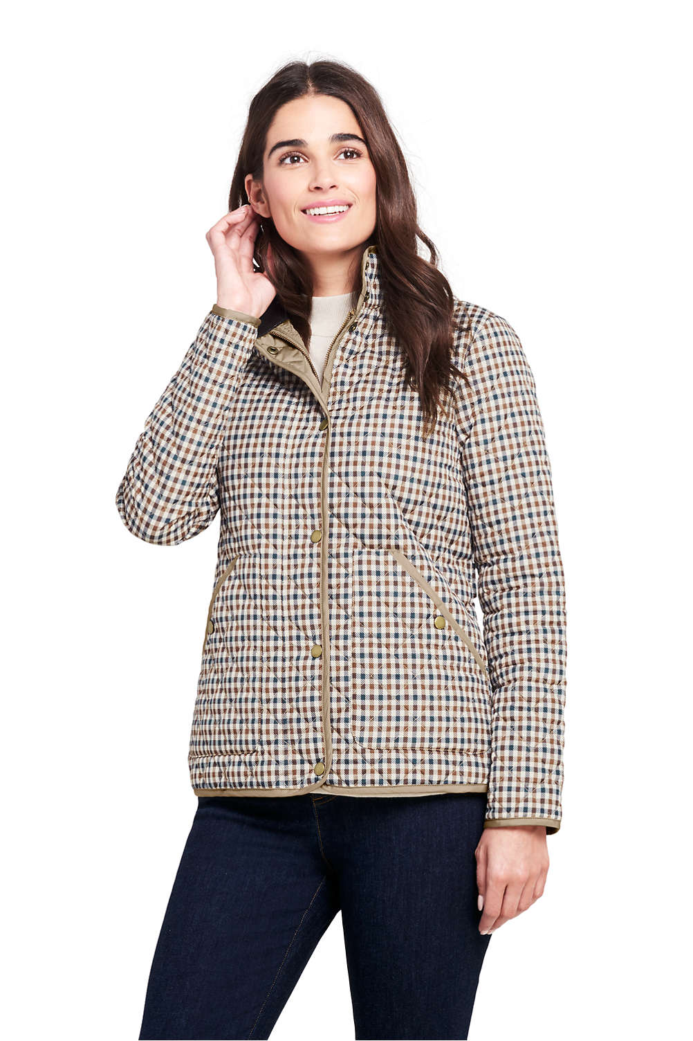 Womens Print Quilted Barn Insulated Jacket From Lands End