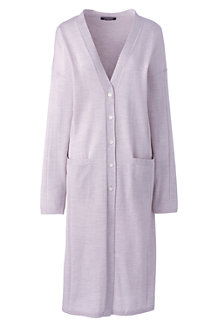 Women's Merino Long Cardigan