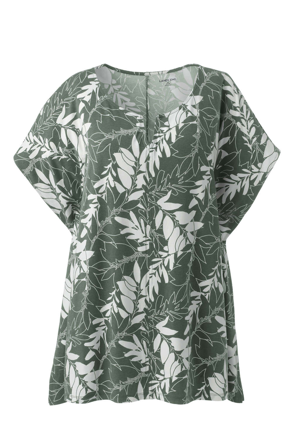 624bc970879 Women s Plus Size Relaxed Dolman Sleeve Print Top from Lands  End