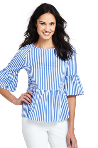 Women's Peplum Top in Stripe