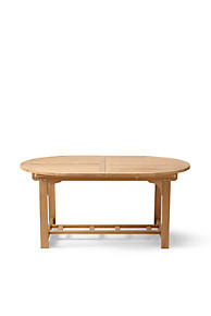 Teak Classic Oval Extension Table Outdoor Patio