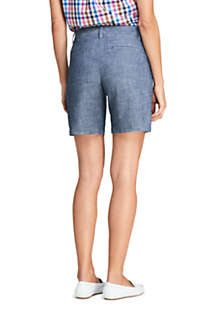 "Women's Mid Rise 7"" Chino Shorts, Back"