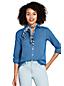 La Chemise en Coton et Lin à Manches Enroulables, Femme Stature Standard