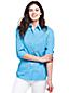 Women's Print Cotton/Linen Roll Sleeve Shirt