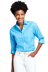 Women's Tall Cotton Linen Roll Sleeve Shirt