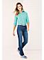 La Chemise en Coton et Lin à Motifs et Manches Enroulables, Femme Stature Standard