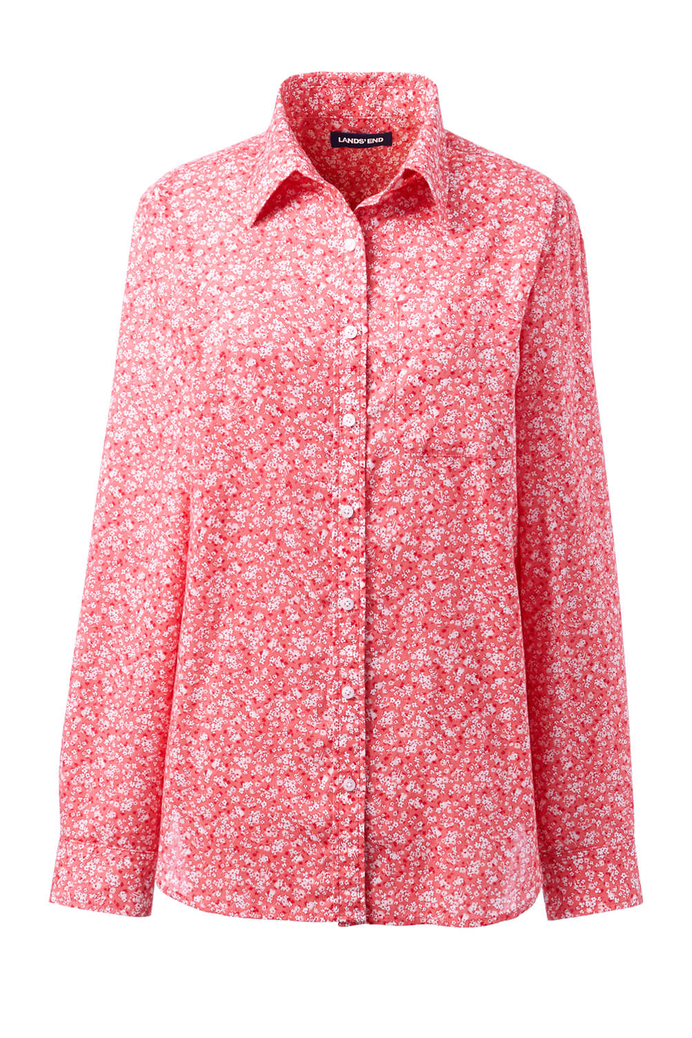 fb45dddaa11 Women's Plus Size Roll Sleeve Cotton Linen Shirt from Lands' End