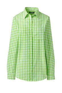 Women's Patterned Cotton/Linen Roll Sleeve Shirt