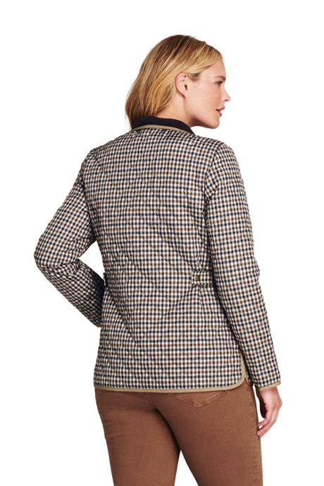 Women's Plus Size Petite Print Quilted Barn Insulated Jacket