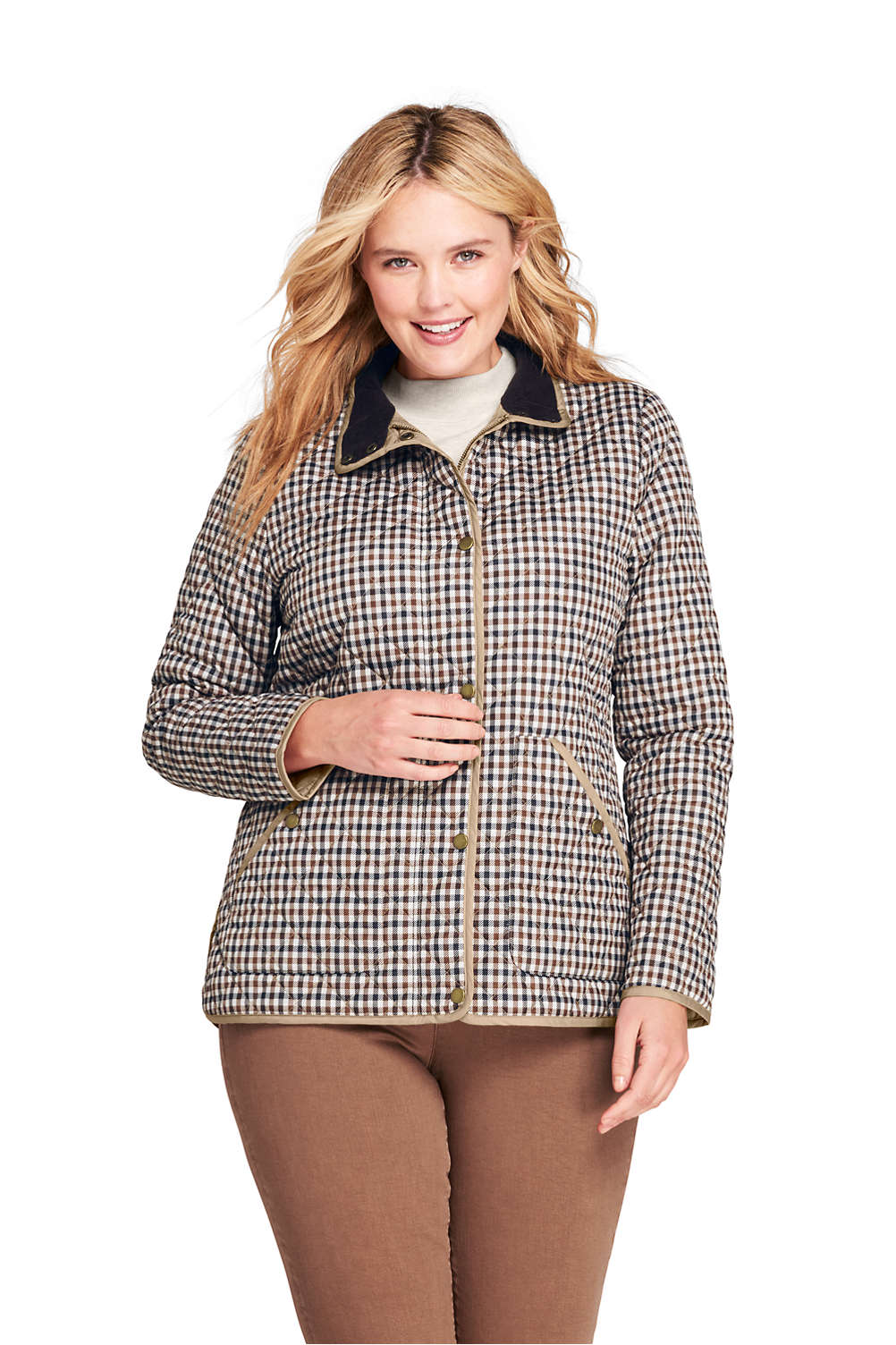 2d25f65a8 Women's Plus Size Print Quilted Barn Insulated Jacket