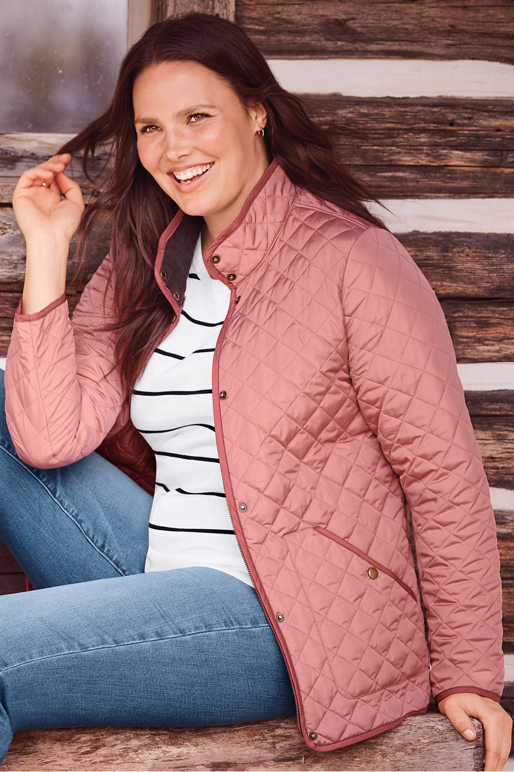 89575601f24 Womens Plus Size Quilted Barn Coat Best Quilt Grafimage Co