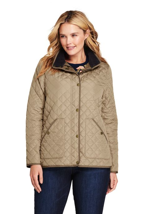 Women's Plus Size Petite Quilted Barn Insulated Jacket